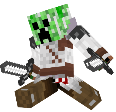 He was one of them but he didn't want to blow up player's house now he kills every creeper what want to destroy innocent human's house...