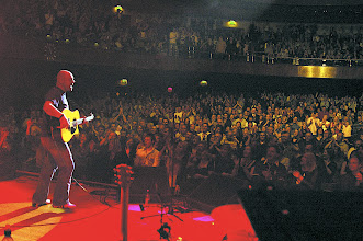 Photo: View from the stage of John and the crowd at Sheffield City Hall