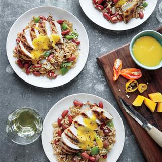 Grilled Mango-Habanero Jerk Chicken