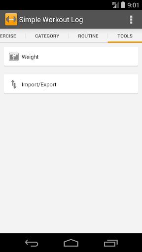 Simple Workout Log PRO Key 1.1 screenshots 5