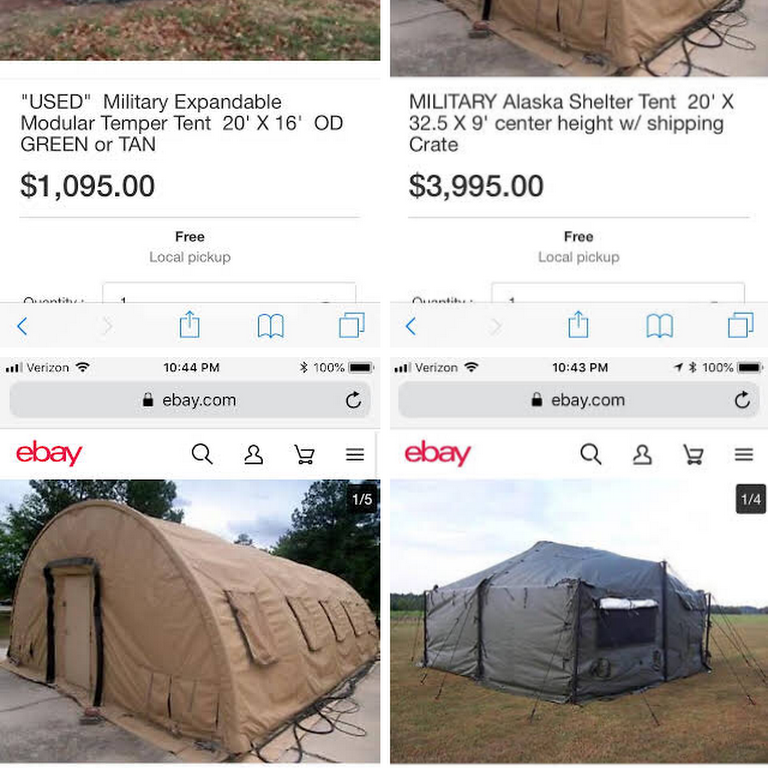 Government surplus & military tents Decatur TN - Surplus