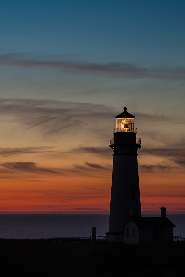 Yaquina Head Sunset by Craig Pifer - Landscapes Sunsets & Sunrises ( oregon, yaquina head, sunset, lighthouse, ocean, landscape, light, evening, coast )