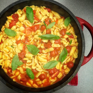 Cavatelli With Fresh Tomato And Basil Sauce