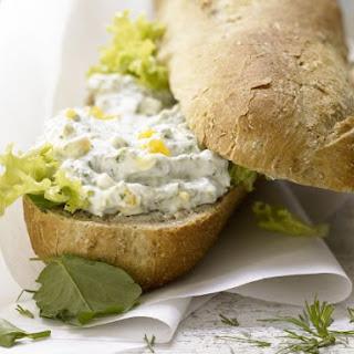Egg Salad on Baguette