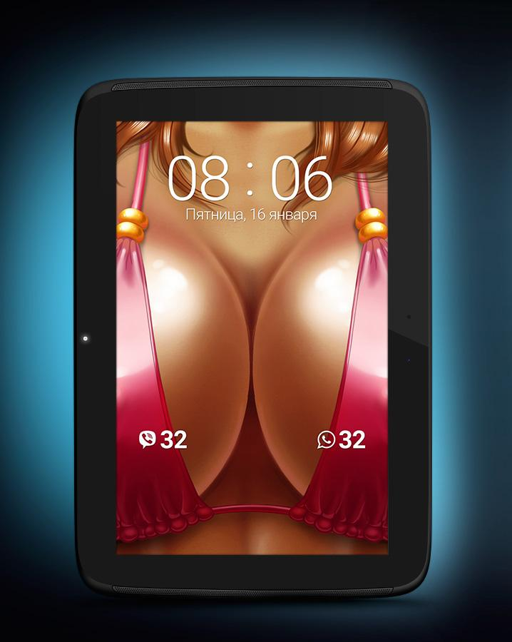 Boobzip - zip lockscreen- screenshot