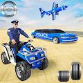 US Police Quad Bike Car Transporter Games download