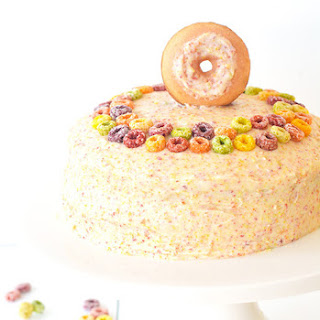 Fruit Loop Cereal Milk Layer Cake.