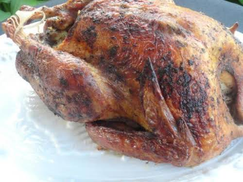 """My Favorite Thanksgiving Turkey (smoked) """"Thanks to the brine, the meat is..."""