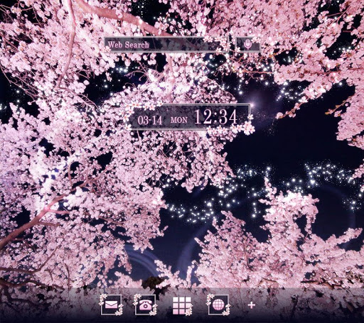 Sakura Night Fantasy-無料着せ替えアプリ