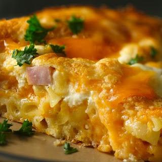Macaroni and Cheese Ham Pie Recipe
