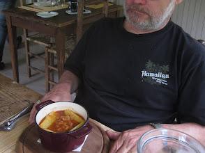 Photo: Tony enjoys Tripes a la Nicoise