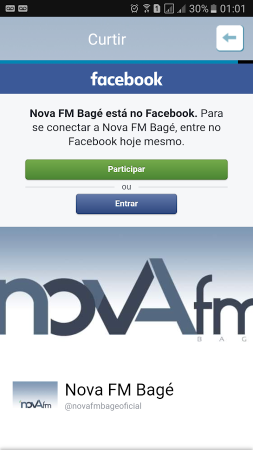 Nova FM Bagé- screenshot