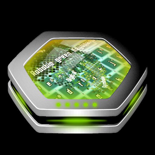 ロボットグリーン GO Keyboard 個人化 App LOGO-硬是要APP