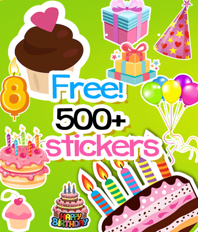 Birthday cards kids birthday cards happy birthday kids cards card - Happy Birthday Sticker Booth Android Apps On Google Play