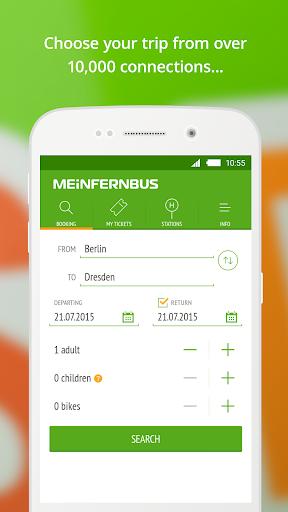 MeinFernbus: bus travel