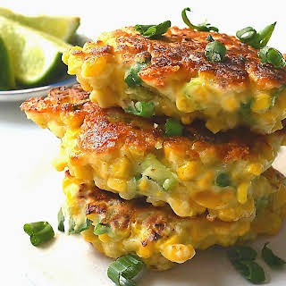 Mexican Corn Cakes with Jalapeno & Lime.