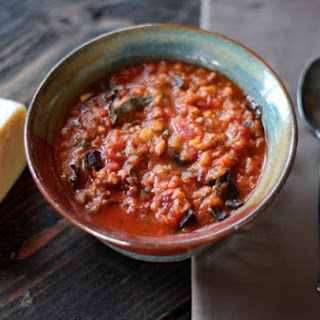 Lentil Soup with Italian Sausage & Chard