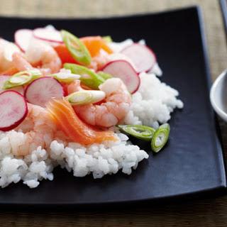 Salmon And Prawn Sushi Salad
