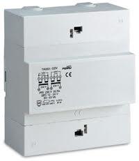Trafo för DIN-montage, 63VA, 230/12-24VAC, 5 moduler
