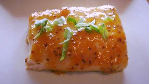Apricot Garlic Dijon Glazed Salmon