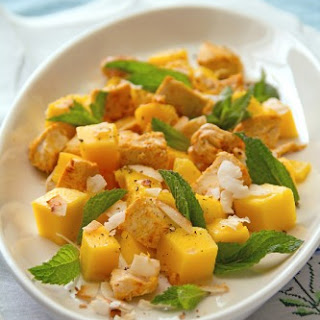Mango Chicken Salad with Coconut and Tamarind.