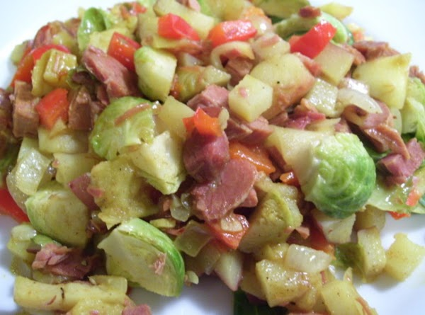 Ham, Brussels Sprouts & Apples 1-dish Meal Recipe