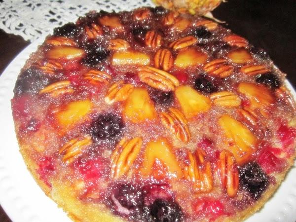 Cranberry Pineapple Upside Down Cake Recipe
