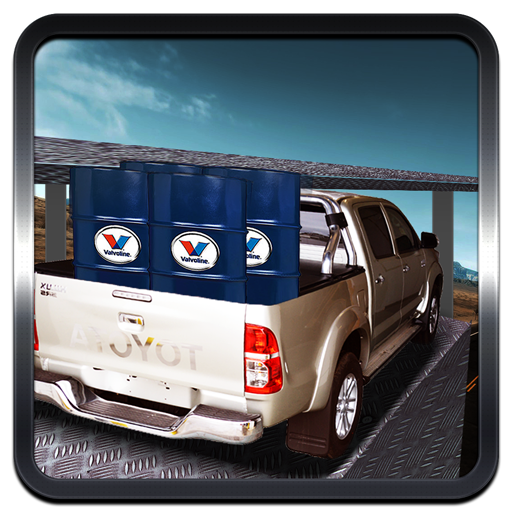 Pickup Cargo Truck Driving Parking Simulation Game