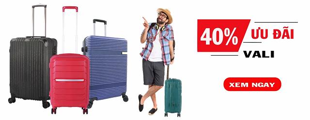 Ưu đãi lên đến 40% cho khách hàng mua vali