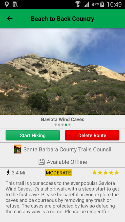 Easy2Hike- screenshot