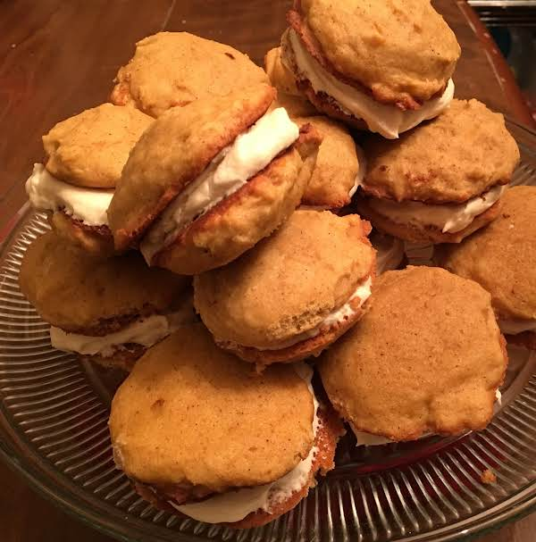 Pumpkin Cookies With Cream Cheese Filling Recipe