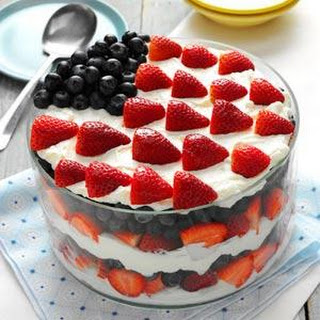 Red, White and Blue Dessert.