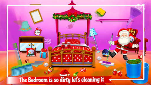 Christmas House Clean up Time : Decoration Game 1.0.0 screenshots 1