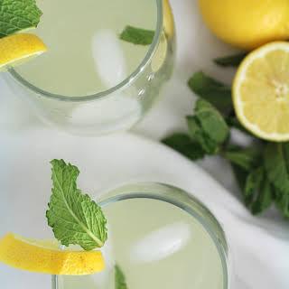 Healthy Honey Mint Lemonade.