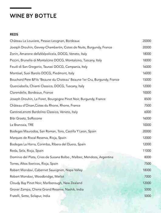 Luna Nudo menu 19