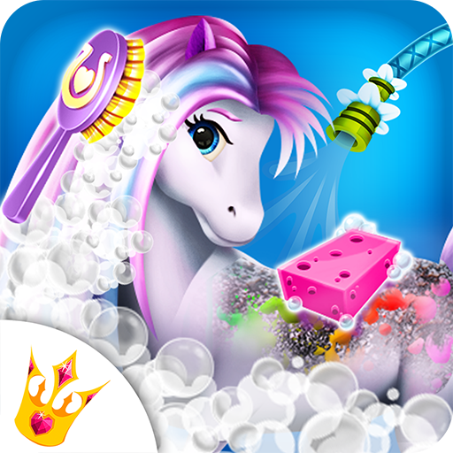 Rainbow Horse Caring ? Pony Dress Up Beauty Salon (game)