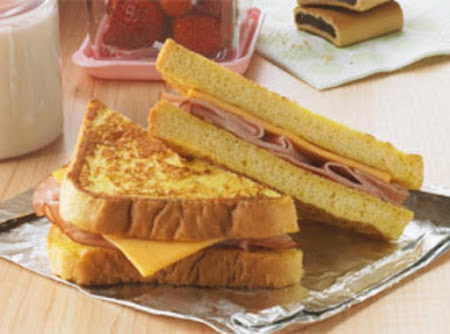 Sticky Good Ham & Chesse French Toast Sammie Recipe