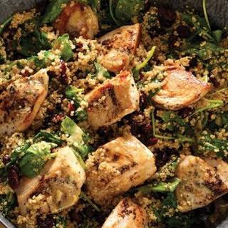 Dijon Chicken & Quinoa Skillet with Baby Kale & Cranberries.