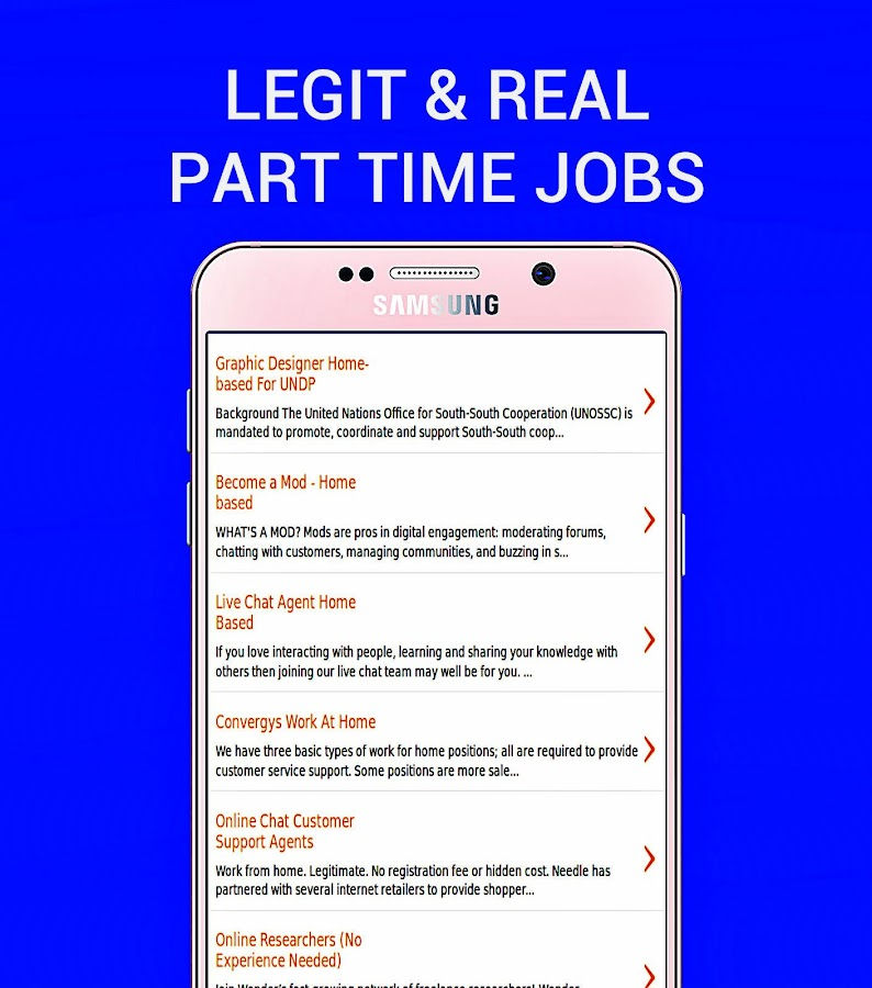 Part Time And Home Based Jobs - Izinhlelo ze-Android ku-Google Play