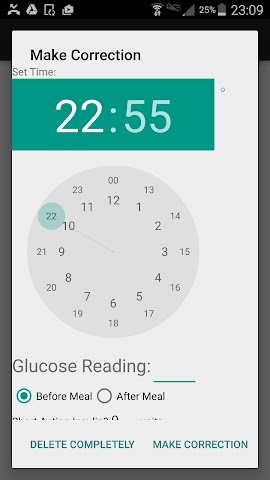 android Pinnacle Glucose Tracker Screenshot 2