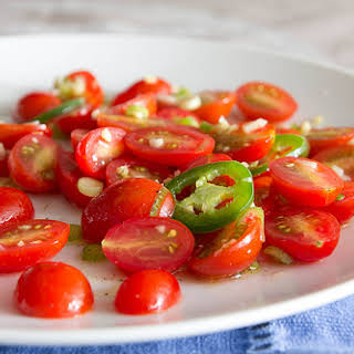 Spicy Marinated Tomatoes.