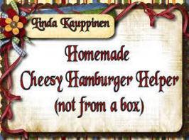 Homemade Cheesy Hamburger Helper (not From A Box) Recipe
