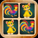 Animals memory matching game icon