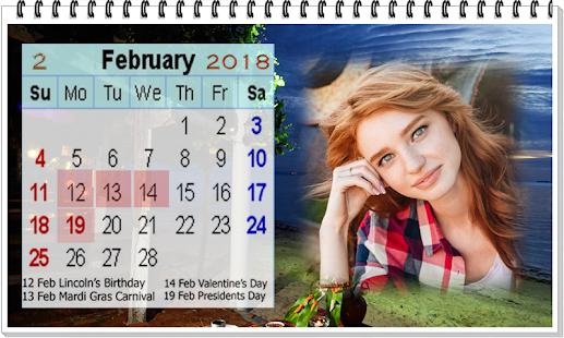 Spring Entdeckung Nein Kalender Hintergrundbilder: Download Kalender 2018 Bilderrahmen Hintergrundbilder APK