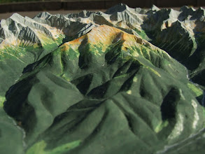 Photo: Szeroka Jaworzyńska Massive and High Tatra in background, Relief Map