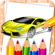 Cars Coloring Mandala Book
