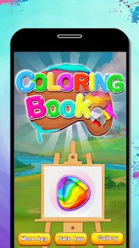Vegetables Coloring Book Drawing Kids Game Screenshot