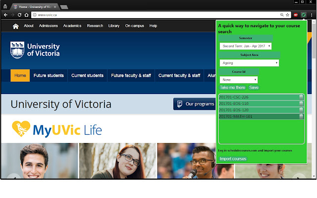 UVic Course Search Optimizer