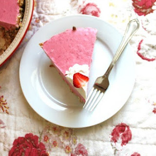 Frozen Strawberry Margarita Pie with Pretzel Crust