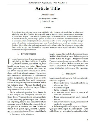 Template Of Research Paper In Latex